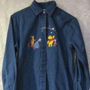 Vintage Disney shirt pooh pigglet  tigger size  S